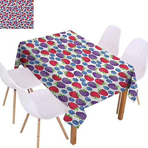 - Waterproof Tablecloth Colorful Wild Fruits Collections Raspberry Blueberry and BlackBerry Fresh Healthy Options Party W59 xL71 Multicolor