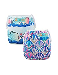 ALVABABY Swim Diaper Reuseable Washable Adjustable 2 Pack One Size Baby Shower Gifts