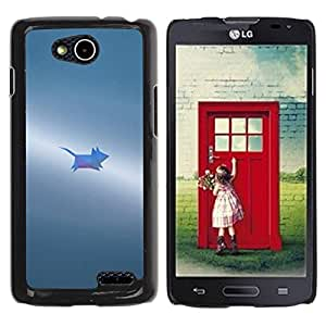 Paccase / SLIM PC / Aliminium Casa Carcasa Funda Case Cover para - Grey Small Painted Cute - LG OPTIMUS L90 / D415