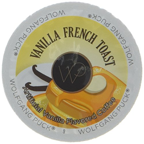 Wolfgang Puck Flavored Coffee Single Serve Cups, Vanilla French Toast, 96 Count (K Count 96 Vanilla Cups)