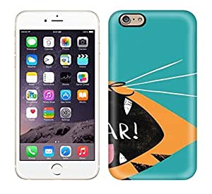 Best Power(Tm) HD Colorful Painted Watercolor Roar Hard Phone Case For Iphone 6