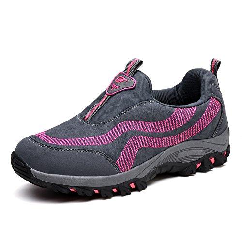 Divierte Suave Comodidad Transpirables Antideslizantes se Las de de Señoras el y Zapatos la la Inferior los Madre Parte los Hasag de Calza Verano M7 Red de Zapatos gray plum red Primavera la la Zapatos dark a1xg0
