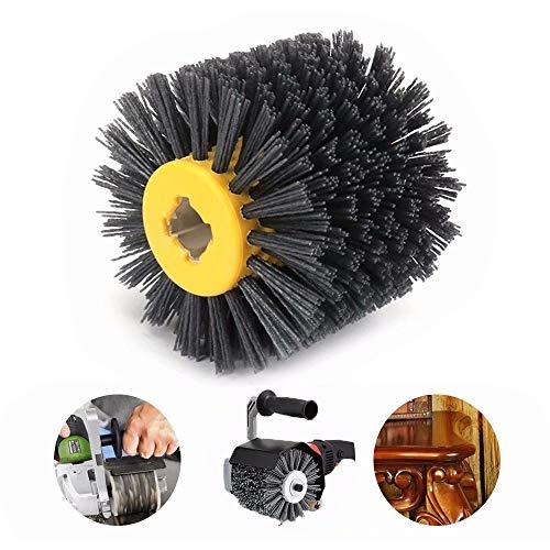 5 Inch 80 Grit Abrasive Wire Drawing Wheel Drum Burnishing Polishing Brush For Wooden furniture Polishing 120x20x100mm