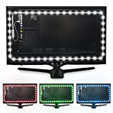 Luminoodle Color Bias Lighting - USB LED TV Backlight with Color, Adhesive RGB Strip Lights with Wireless Remote &...