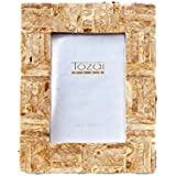 Tozai Home - 4x6 Mosaic Frame - Golden Criss Cross