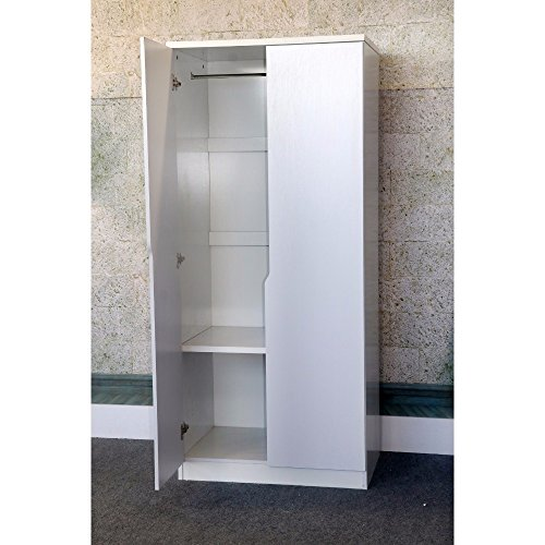 White 2 Door Wardrobe - 4