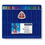 ステッドラー エルゴソフト アクェレル 水彩色鉛筆 24色セット 156 SB24