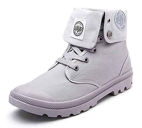 Botas Botines Retro Zapatos deslizante Botas de Invierno Hombre Otoño Gris Martin Nieve Invierno Minetom Moda Lazada Anti Boots qRfwawAH