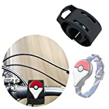 Black Bicycle Handlebar Mount Kit for the Pokémon GO Plus - Secured with Strong Cable Ties - by DURAGADGET