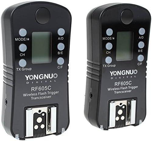 Yongnuo Rf605c Rf 605c Rf605 C Wireless Flash Trigger For Canon Upgrade Version Camera Photo