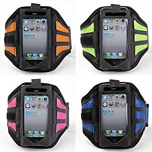 ZLXUSA (TM) Ventilated Sports Armband for iphone 4s Green