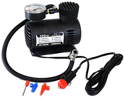 300 PSI Mini Air Compressor to Fill Car, Bicycle, Ball Tires