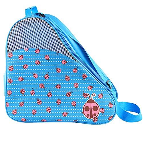 Skate Bag Hockey Bag Ice Roller Skates Carry Bag Pocket Accessories (Blue)