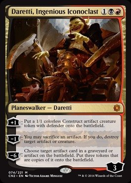Magic: The Gathering - Daretti, Ingenious Iconoclast (074/221) - Conspiracy 2: Take The Crown