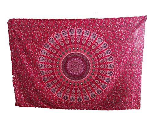 Ularma 148cmX210cm Strandtuch Rund Blumen Aufdruck Reisetuch Polyester Mehrfunktional Handtuch Bikini Überwurf Rechteckig Decke (rot2)