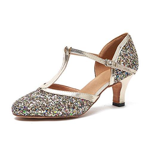 Minitoo Damen Standard & Latein Gold-6cm Heel