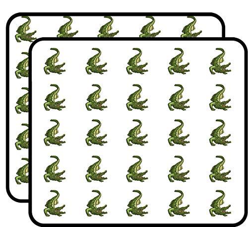 Green Alligator Sticker for Scrapbooking, Calendars, Arts, Kids DIY Crafts, Album, Bullet Journals 50 Pack