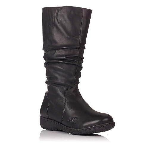 232676379b7d6 Botas Planas Kangaroos 503 Negras - Negro  Amazon.es  Zapatos y ...