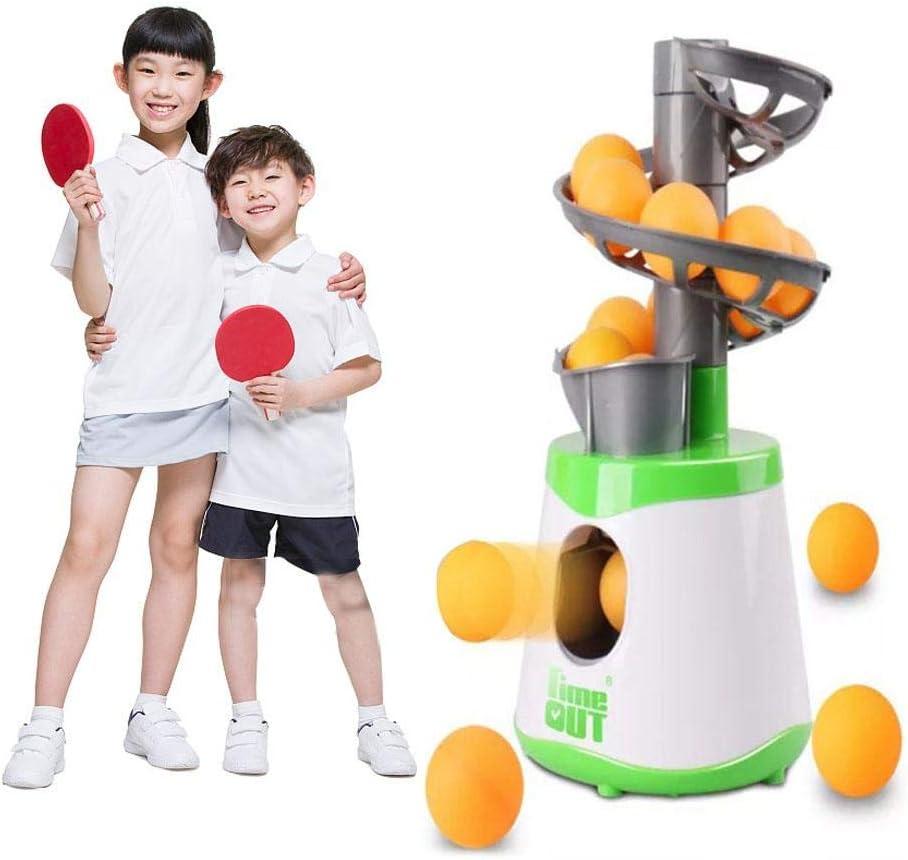 HELLOO HOME - Máquina de Ping Pong automática para Uso en Interiores y Exteriores, para Lanzador automático de Pelotas de Ping Pong, Equipo de Entrenamiento Deportivo