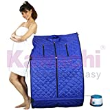 Kawachi Portable Folding Safe Personal Steam Bath for Relaxation at Home Rejuvenator Lightweight Indoor Full Body Detox Therapy Steam-Sauna Spa Tent - Blue