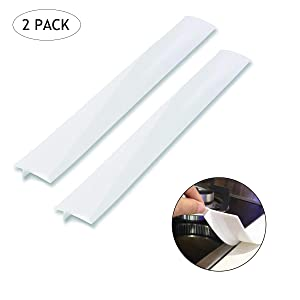 Silicone Kitchen Stove Counter Gap Cover Long & Wide Gap Filler (2 Pack) Seals Spills Between Counters, Stovetops, Washing Machines, Oven, Washer, Dryer | Heat-Resistant and Easy Clean (White),25''