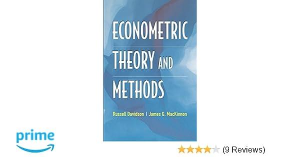 econometric theory and methods 9780195123722 economics books rh amazon com Econometrics Questions Econometrics Lecture Notes PDF