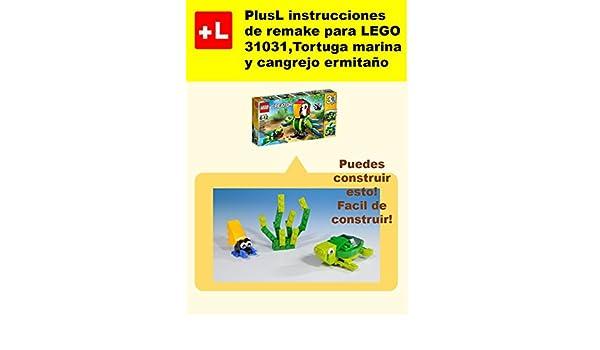 PlusL instrucciones de remake para LEGO 31031, Tortuga marina y ...