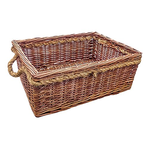 Cheltenham Rope Handle Wicker Basket by Red Hamper