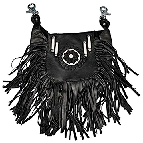 Bag Beaded Shoulder Leather (Hot Leathers, SOFT LAMBSKIN LADIES LEATHER CLIP POUCH PURSE - 8