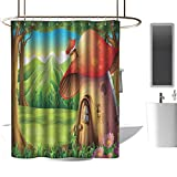 Best Daisy Weed Killers - TimBeve Fabric Shower Curtain for Bathroom Mushroom,Shroom House Review