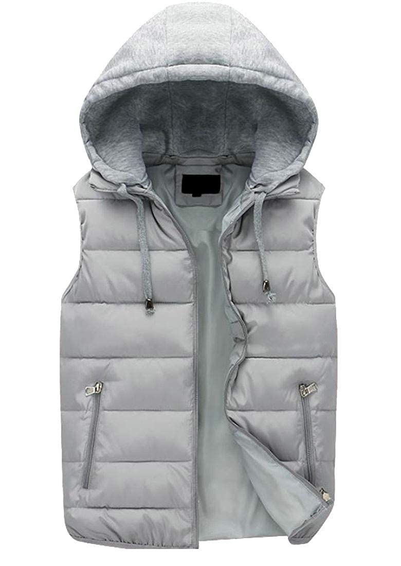 Conffetti Mens Outdoors Solid Quilted Hooded Waistcoat Autumn Winter Down Vest