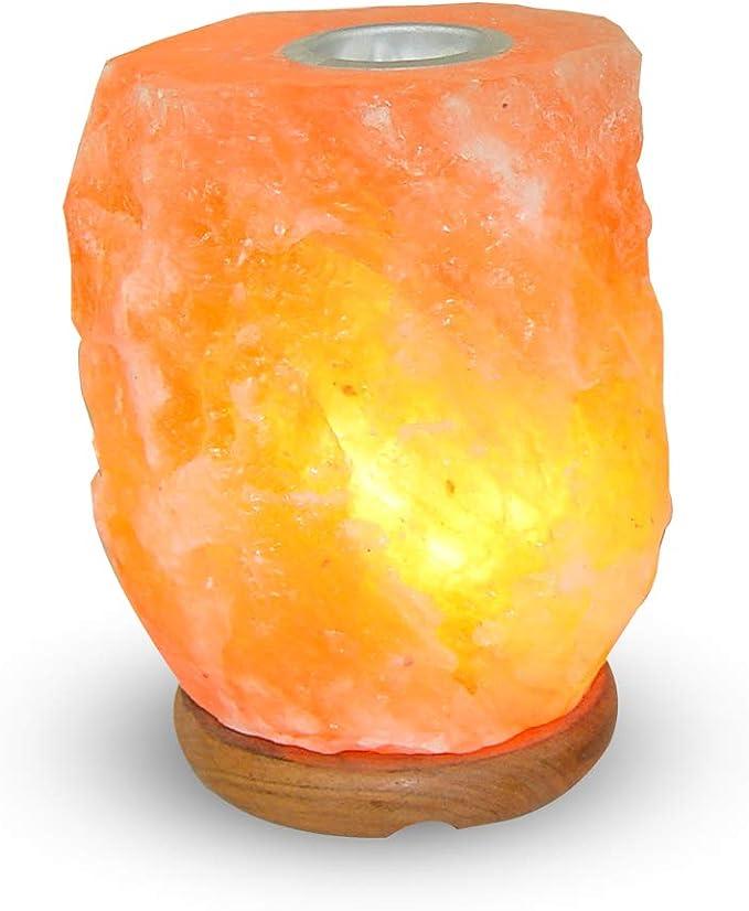 Quemador de esencias de sal rosa del Himalaya lámpara 3-5 kg con ...