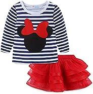 Mud Kingdom Toddler Girls' Cartoon Cute Set T-Shirt and Tutu Skirt Ou