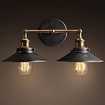 Lumière 2 Industrielle Murale Métal Vintage Applique En 4j3LqA5R