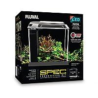 Kit de acuario Fluval Spec III, 2.6 galones, negro