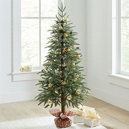 Brylanehome Potted Faux Evergreen (Green,0)
