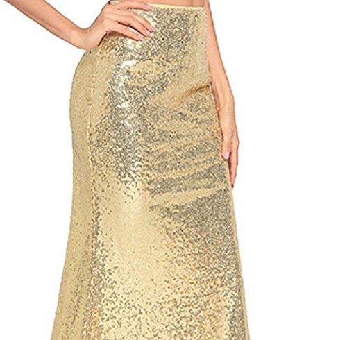 di paillette Vestito tuo per pezzi vestito da sera il Abito coda ZFFde a a due sexy Moda a Abito pesce maniche senza Golden Abito q1wz0I