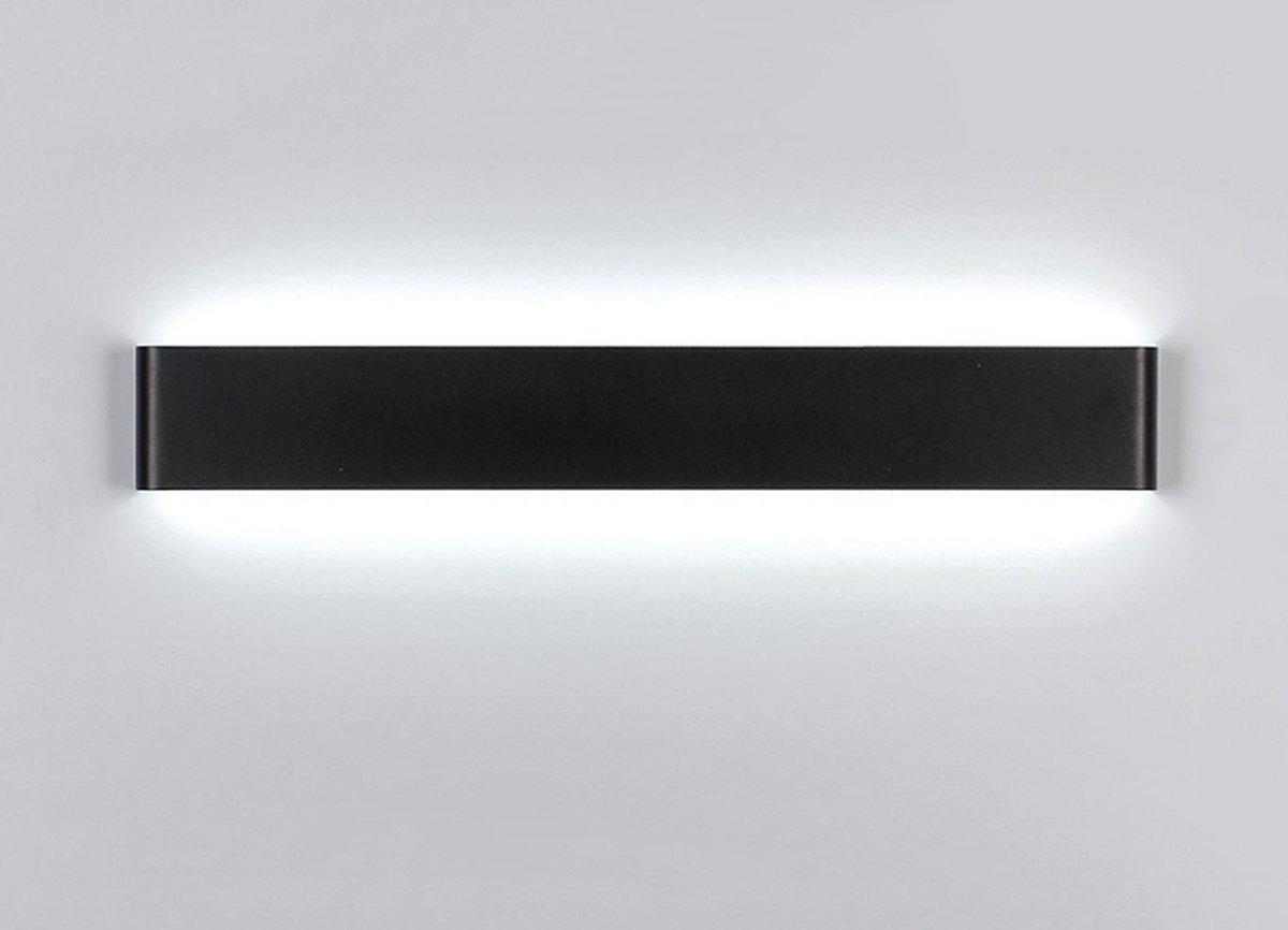 &Spiegelleuchte LED-Aluminium-Legierung Wand Lampe Bad Lampe, Wohnzimmer Schlafzimmer Bett Lampe Kanal kreative Wandleuchte (Farbe   schwarz Weiß-20W 61cm)