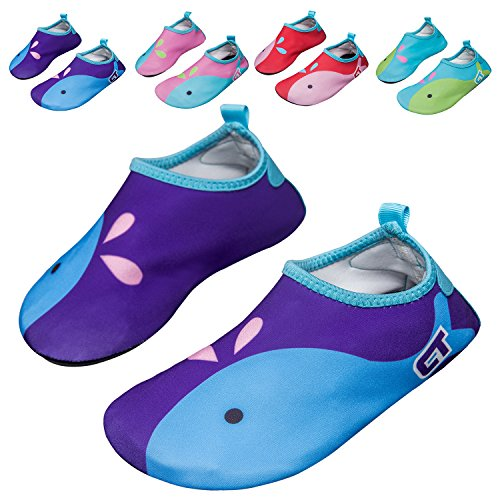 Norocos Boys Lightweight Water Shoes Soft Barefoot Shoes Quick Dry Aqua Socks For Girls Beach Swimming Surf Pool Exercise