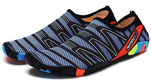 Waltzon Water Shoes Mens Womens Beach Swim Shoes Quick-dry Aqua Socks Scarpe Da Piscina Per Il Surf Yoga D.blue186