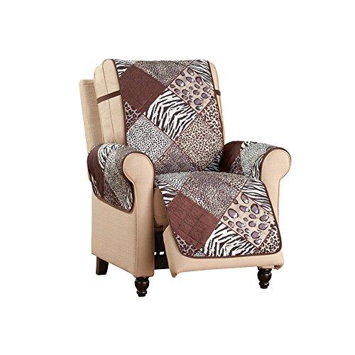 Collections Etc Reversible Safari Animal Print Furniture Protector, (Reversible Leopard)