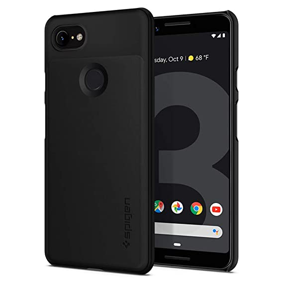 competitive price 2491e 26ca7 Spigen Thin Fit Designed for Google Pixel 3 Case (2018) - Black