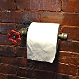 Hagyh Retro Industrial Style Bathroom, Toilet Towel Towel Rack, Toilet Hand Washing Rack, Water Pipe, Iron Art Toilet Paper Roll Paper Holder
