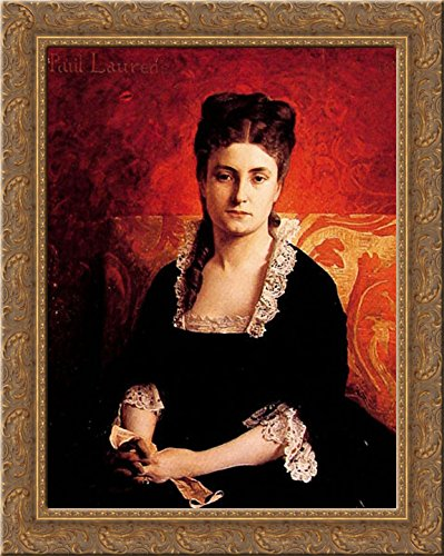 Portrait de femme 20x23 Gold Ornate Wood Framed Canvas Art by Laurens, Jean Paul