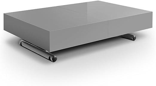 Mesa elevable y extensible, modelo Ella, color gris: Amazon.es: Hogar