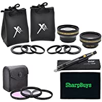 37mm Filter and Lens Combo Package For The Sony DCR-SX45 Handycam Camcorder - PACKAGE INCLUDES: 37mm Pro Series Multi-Coated 3 Piece Digital Filter Kit (UV-CPL-FLD) Filters, 37mm 0.43X HD Wide Angle & 2.2X HD Telephoto Lenses With Case & Pouches & Lens Cleaning Pen
