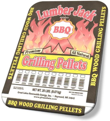 Lumber Jack 20-Pound Bag, 100-Percent Hickory Wood BBQ Grill