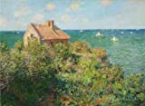 Silicone Sheet Mask Daisy Oil Painting 'The Fisherman's House At Varengeville, 1882 By Claude Monet' 12 x 16 inch / 30 x 42 cm , on High Definition HD canvas prints is for Gifts And Bath Room, Garage And Kitchen decor, sale