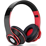 Bluetooth Headphones Over Ear, Yica Foldable Wireless Headset Headphone with Microphone for PC/Cell Phones/TV (Hi-Fi Stereo,EQ Heavy bass,SD card slot,FM Radio)