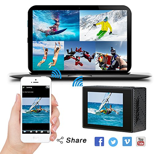 AKASO Brave 4 4K 20MP WiFi Action Camera Ultra HD with EIS 30m Underwater Waterproof Camera Remote ...